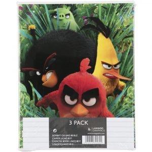 Angry Birds Vihko Viivoitettu A5/40 3 Kpl