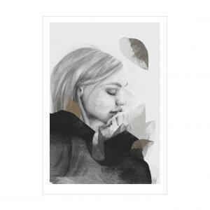 Anna Bülow Dreamer In Black Juliste 30x40 Cm