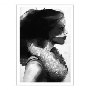 Anna Bülow Face 2 Juliste 50x70 Cm