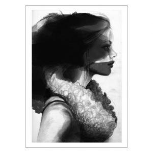 Anna Bülow Face 2 Juliste 70x100 Cm