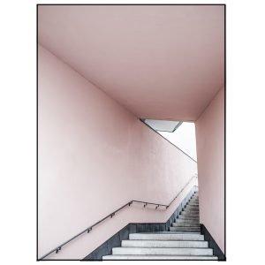 Annaleena Pink Stairs Poster Juliste