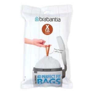 Brabantia Perfectfit Jätepussi X 12l 40 Kpl