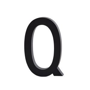 Design Letters Harmaa Kirjain Alumiini Q