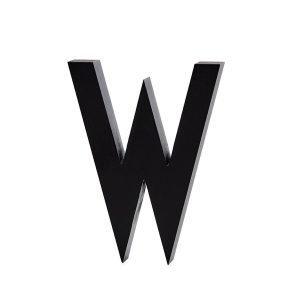 Design Letters Harmaa Kirjain Alumiini W