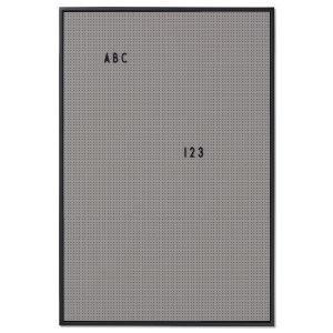 Design Letters Ilmoitustaulu A2 Tummanharmaa