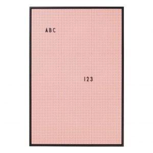 Design Letters Ilmoitustaulu A2 Vaaleanpunainen