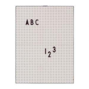 Design Letters Ilmoitustaulu A4 Harmaa