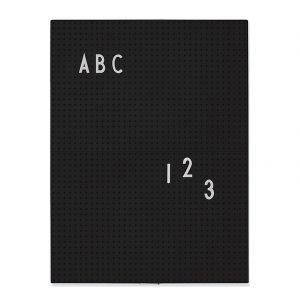 Design Letters Ilmoitustaulu A4 Musta