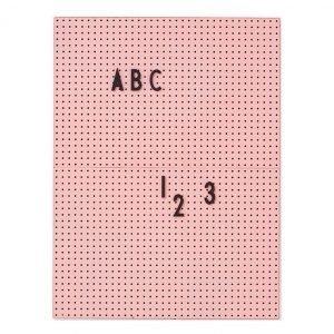 Design Letters Ilmoitustaulu A4 Vaaleanpunainen