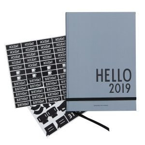 Design Letters Kalenteri A5 2019 Harmaa