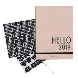 Design Letters Kalenteri A5 2019 Nude