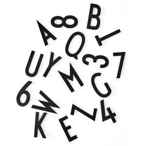 Design Letters Kirjaimet Musta 50 Mm 132-Osainen