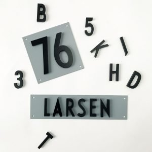 Design Letters Lautaselle Alumiini Kirjain / Numero 14x21 Cm