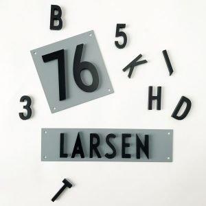 Design Letters Lautaselle Alumiini Kirjain / Numero 7x14 Cm