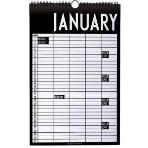 Design Letters Monthly Planner Kalenteri