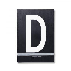 Design Letters Muistiinpanokirja Kirjain D