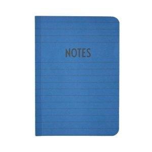 Design Letters Muistikirja A6 Sininen