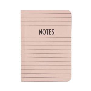 Design Letters Muistikirja A6 Vaaleanpunainen