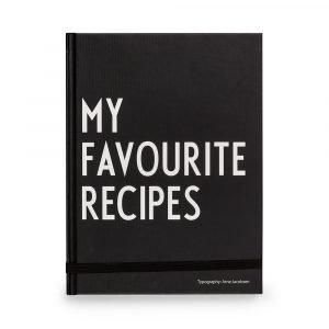 Design Letters My Favorite Recipes Muistiinpanokirja