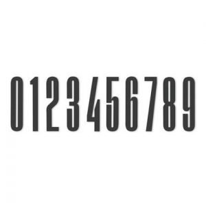 Design Letters Numero Akryyli 8