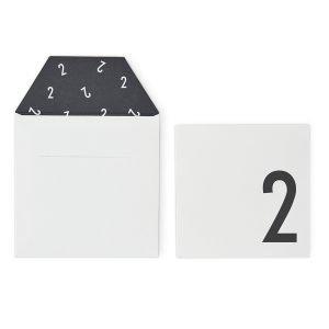 Design Letters Onnittelukortti 2 Valkoinen