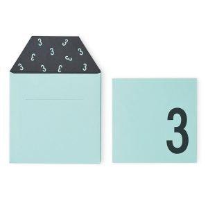 Design Letters Onnittelukortti 3 Vihreä