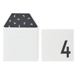 Design Letters Onnittelukortti 4 Valkoinen