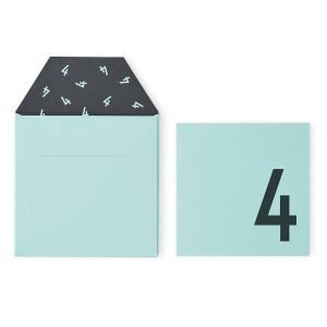 Design Letters Onnittelukortti 4 Vihreä