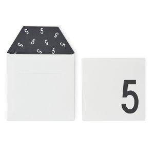 Design Letters Onnittelukortti 5 Valkoinen
