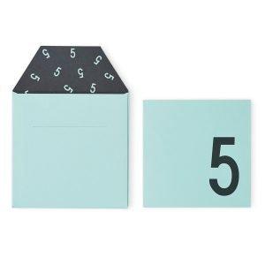 Design Letters Onnittelukortti 5 Vihreä