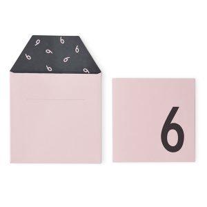Design Letters Onnittelukortti 6 Roosa