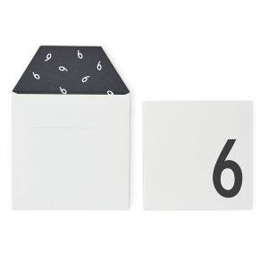 Design Letters Onnittelukortti 6 Valkoinen