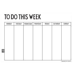 Design Letters Weekly Planner Kalenteri