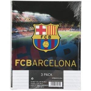 Fc Barcelona Vihko Viivoitettu A5/40 3 Kpl