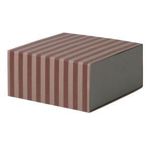 Ferm Living Square Säilytyslaatikko Bordeaux / Vaaleanpunainen