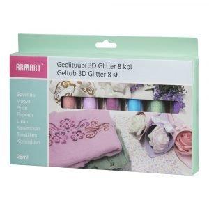 Geelituubi 3d Glitter 8 Kpl