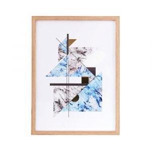 House Doctor Abstract Marble Juliste Kehyksellä Harmaa / Sininen