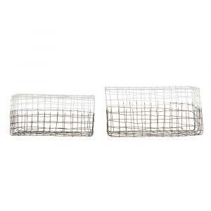 House Doctor Mail Kori Metalli / Valkoinen 30x17 Cm 2-Pakkaus