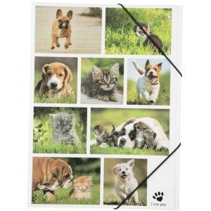I Love Pets Kulmalukkokansio