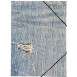 Jeans Kulmalukkokansio