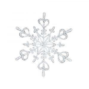 Koziol Flake L Ornament Tähti Hopea