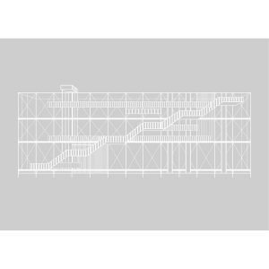 Kristina Dam Pompidou Poster Juliste 50x70 Harmaa