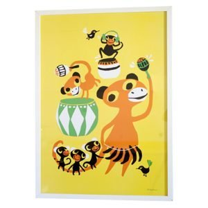Littlephant Bongo Party Graphic Print Printti 50x70 Cm
