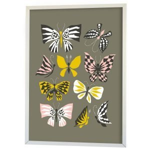Littlephant Butterfly Family Graphic Print Printti Harmaa 50x70 Cm