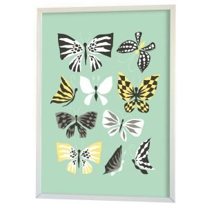 Littlephant Butterfly Family Graphic Print Printti Sininen 50x70 Cm