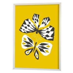 Littlephant Butterfly Love Graphic Print Printti Keltainen 70x100 Cm