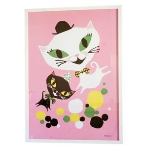 Littlephant Cat Fun Graphic Print Printti 50x70 Cm