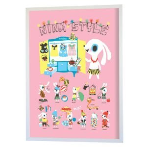 Littlephant Nina Style Graphic Print Printti 30x40 Cm