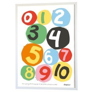 Littlephant Numbers Graphic Print Printti Numbers 50x70 Cm