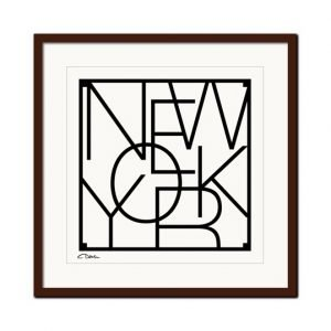 Men At Work City Graphics New York Juliste